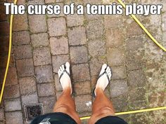 The curse of a tennis player. #tennis