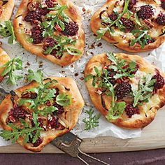 Blackberry-Brie Pizzettas | Best Party Appetizers and Recipes - Southern Living Mobile