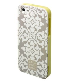 $8.99 marked down from $38! Cream & Yellow Breakfast in Berkshire Adorn iPhone 5 & 5s Case #phonecase #phone #case #iphone #yellow #petuniapicklebottom #sale #design #zulily #zulilyfinds