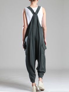 LYOCELL OVERALLS WITH EXTRA LOW CROTCH - JACKETS, JUMPSUITS, DRESSES, TROUSERS, SKIRTS, JERSEY, KNITWEAR, ACCESORIES - Woman -