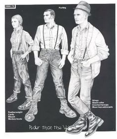 """From Nick Knight's book """"Skinhead"""".style section by Jim Ferguson (as scanned) first skinheads were technically around during . Skinhead Girl, Skinhead Fashion, Skinhead Style, Skinhead Clothing, Dr. Martens, Ska Music, Youth Subcultures, Skin Head, Teddy Boys"""