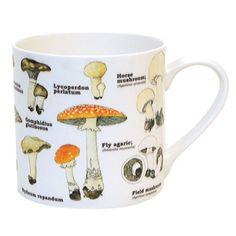 Ecologie Mushroom Species Bone China Cup Coffee Tea Mug Garden Gift Fly Agaric & Garden Overbeck And Friends, Picknick Set, Mushroom Species, Mushroom Varieties, Teller Set, Ecology Design, Party Set, Mugs For Sale, China Mugs