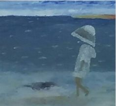 Niña caminando en el mar. Creado por Correa Stankevicaite - tettor