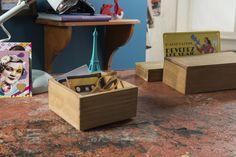 Casier carré en bois « Vintage »