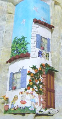 tegola casa di campagna Garden Deco, Ceramic Houses, Roof Tiles, Paint Effects, Small Paintings, Tile Art, Handmade Home, Art Techniques, Clay Art
