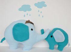 Blue fabric elephant nursery fabric elephant by LittleFairyCottage, $17.00