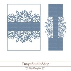 Belly Band template - SVG, DXF, ai, CRD, eps - Laser Paper Cut - Silhouette Cameo- Cricut - Instant Download 124 by TanyaStudioShop on Etsy