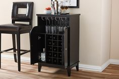 Display or store your collection of fine wines in this elegant Baxton Studio Easton Contemporary Dark Brown Wood Finish Wine Cabinet. Wine Rack Furniture, Open Shelving, Shelves, Brown Wood, Dark Brown, Built In Wine Rack, Wine Cabinets, Hacks, Baxton Studio