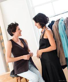 Garance Doré, Yasmin Sewell, black vest, trousers, black dress / Garance Doré
