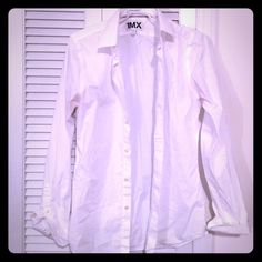 Express Extra Slim Fit 1MX White Button Up Shirt Men's size small. Great for prom season!!! Wore this for my junior prom (as seen in last photo) Worn like twice. Has a little bit of lint on it but I can most likely remove that and it's slightly wrinkled OBO Express Tops Button Down Shirts