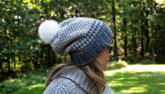 Fatima Slouchy Beanie - Free Crochet Pattern - Share a Pattern Crochet Adult Hat, Crochet Slouchy Hat, All Free Crochet, Slouchy Beanie, Knitted Hats, Crochet Hats, Slouch Hats, Chunky Crochet, Crochet Granny