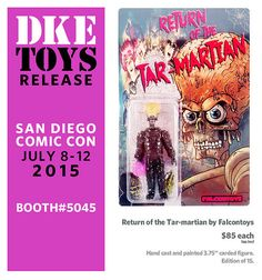 DKE's Comic-Con exclusives have proved so popular that for the second year in a row, we've opted to give the distributor of urban designer vinyl toys and collectibles its own master post, wi… Hand Cast, It Cast, July 7, Vinyl Toys, The Martian, Action Figures, Comics, Cards, Comic Con