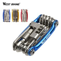 WEST BIKING 11 in 1 Bicycle Mountain Road Bike Tools Cycling Multi Function Wrench Screwdrive Chain Cutter Bicycle Repair Tools