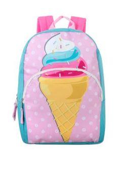 New Girls Lightning Bug Ice Cream Unicorns 6 in 1 School Backpack Lunch Bag Set