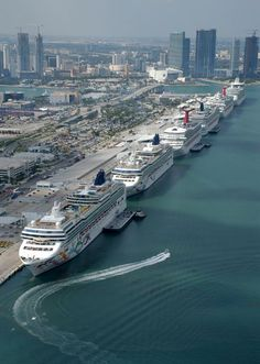 Miami Cruise Port, the world's busiest - tips on choosing a cruise… Pick a ship…. I choose Carnival!!!!! #Cruiseships