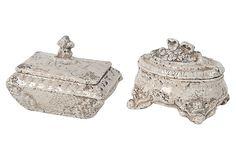 Asst. of 2 Decorative Boxes, White on OneKingsLane.com