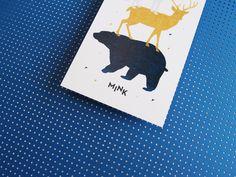 MINK birthannouncement - blue - babyboy - cool announcement - studiosijm