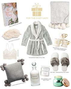 Gift Ideas for the lady who loves to cozy up. Everyone loves a good night in - h. Gift Ideas for the lady who loves to cozy up. Everyone loves a good night in - here are all the essentials to do it righ. Holiday Gift Guide, Holiday Gifts, Christmas Gifts, Girly Gifts, Cute Gifts, Gifts For Wife, Gifts For Girls, Sister Gifts, Top Gifts