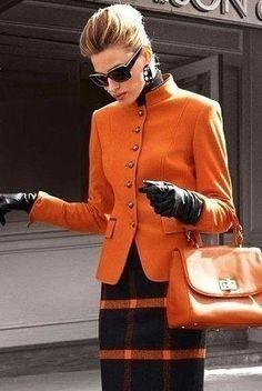 Вдохновение цветом - на повестке дня оранжевый.