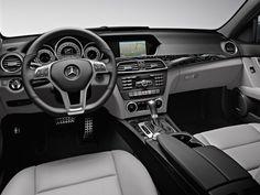 2013 Mercedes C350 Sedan interior in Ash Leather