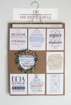Diy, reciclamos el calendario de Mr wonderful