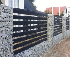 55 Fabulous Gabion Fence Design for Garden Landscaping Ideas The front fence is sometimes overlooked when considering ways to improve your home. A fence can be an important aspect […] Backyard Fences, Garden Fencing, Backyard Landscaping, Landscaping Ideas, Pool Fence, Privacy Fence Designs, Privacy Fences, Stone Fence, Metal Fence