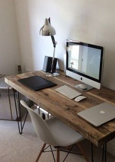 20+ Simple Industrial Table Design Ideas For Home Office