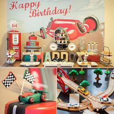 This race car birthday party is one any tot will love. A party divided into four sections: the pit stop, the race track, the gas station, and the trophy section, each area caters to a different activity. You have to check out every detail of this party to truly appreciate how special it is.  Source: Keren Precel Events
