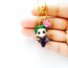 The Joker dc Comics Suicide Squad Batman polymer clay Keychain MADE TO ORDER