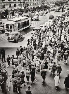 Manhattan in 1937. by Berenice Abbott