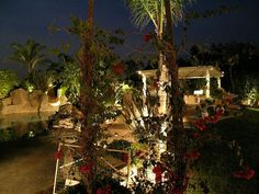 Pool Area and Landscape Lighting Design by Artistic Illumination