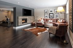 Love the fireplace Design Awards, Home Builders, Great Places, Basements, Living Room, Home Decor, Decoration Home, Room Decor, Living Rooms