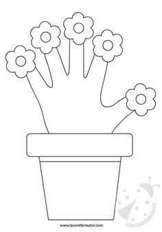 VASE OF FLOWERS Useful shapes to create with paper a vase of flowers as a gift … - Spring Crafts For Kids Mothers Day Crafts For Kids, Spring Crafts For Kids, Mothers Day Cards, Diy For Kids, Numbers Preschool, Preschool Crafts, Kids Crafts, Mother's Day Activities, Indoor Activities For Kids