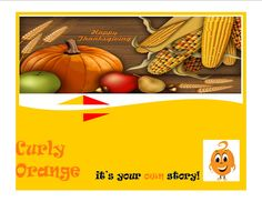 CurlyOrange Wishes Happy #ThanksGiving DAY