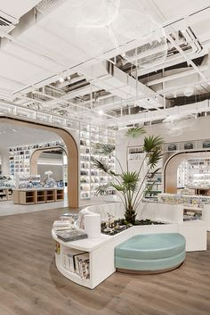 Fly Page丨飞行的书本,展开书店与城市的对话 - 原创作品 - 站酷(ZCOOL) Public Library Design, Cafe Interior, Interior Design, Co Working, Retail Space, Commercial Design, Office Interiors, Retail Design, Store Design