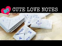 Note Folding  Amor      Note And Origami