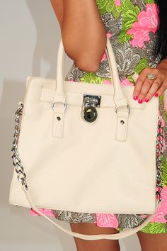 Work For Your Love Purse: Cream