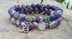Buddha Bracelet Om Charm Bracelet Set Boho by Braceletshomme