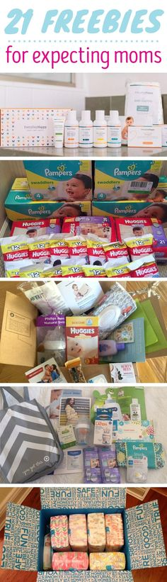 Here's a list of free stuff for new and expecting moms!