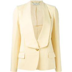 Stella McCartney 'Lydia' jacket (£1,185) ❤ liked on Polyvore featuring outerwear, jackets, blazers, stella mccartney, long sleeve jacket, long sleeve blazer, blazer jacket and stella mccartney jacket