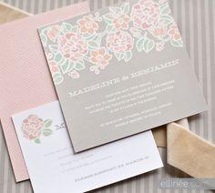 Paris in Bloom wedding stationery by elli.com
