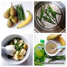 Green beans, banana and pear puree [6m+] this might seem as a weird combination and doesn't look too appealing, but it tastes SO good! Ingrediens: – A handful of green beans – 4 ripe pear – 1 banana (can be omitted though) All organic 1. Wash and cut the two ends of the green beans …