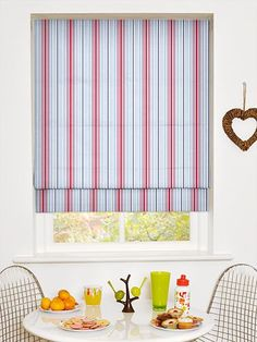 Deauville Coastal Blue Roman Blind from Blinds Blue Roman Blinds, Flower Cart, Bedroom Themes, Coastal, Projects To Try, Curtains, Interiors, London, Bathroom