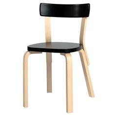 Aalto tuoli 69, musta