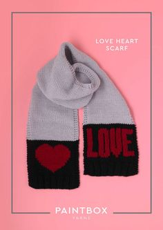 Love Heart Scarf in Paintbox Yarns Simply Chunky - Downloadable PDF. Discover more  FREE patterns by Paintbox Yarns at LoveKnitting.