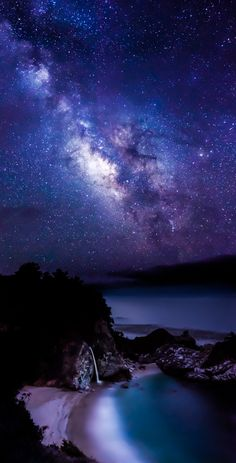 McWay Nights, Julia Pfeiffer Burns State Park, California.
