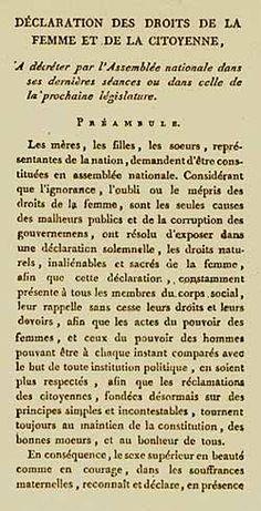 En ce 5 septembre 1791, l'écrivaine Olympe de Gouges s'attelle à l'écriture de sa Déclaration des droits de la femme et de la citoyenne.