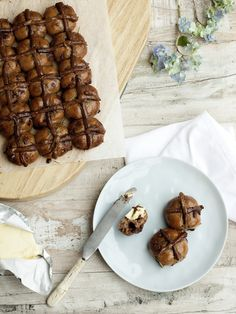 Rosemary Hot Cross Buns. by Elisa Watson for Nourish Magazine March/April 2014. #vegan #glutenfree