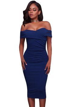d1e020ae3636  37.4 - Nice Dear Lover Off Shoulder Summer Dress 2017 Clothes Women Cyan  Ruched Short Sleeve