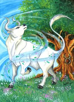 Taurus - Watercolor - Star Sign - Print from Original Paintings - Zodiac Series Taurus Traits, Zodiac Signs Taurus, Zodiac Art, Tiger Zodiac, Taurus Quotes, Neptune In Scorpio, Venus In Gemini, Chiron In Aries, Bull Images